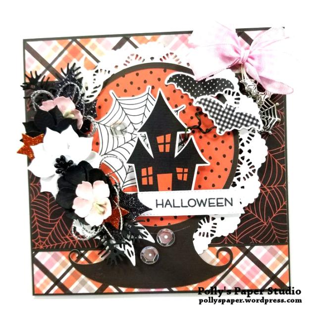 Halloween Snow Globe Greeting Card Polly's Paper Studio 01