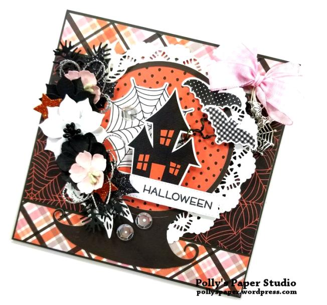 Halloween Snow Globe Greeting Card Polly's Paper Studio 02