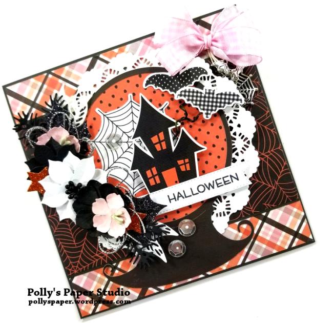 Halloween Snow Globe Greeting Card Polly's Paper Studio 03