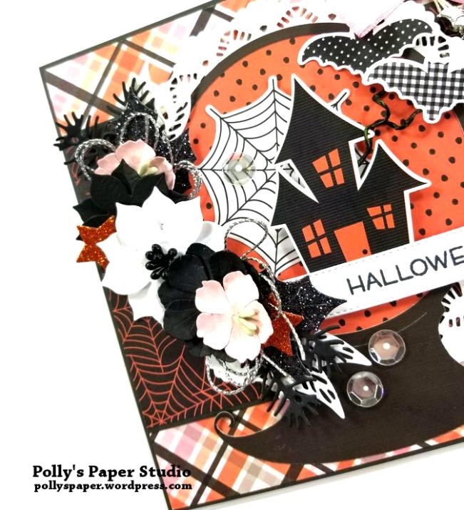 Halloween Snow Globe Greeting Card Polly's Paper Studio 04