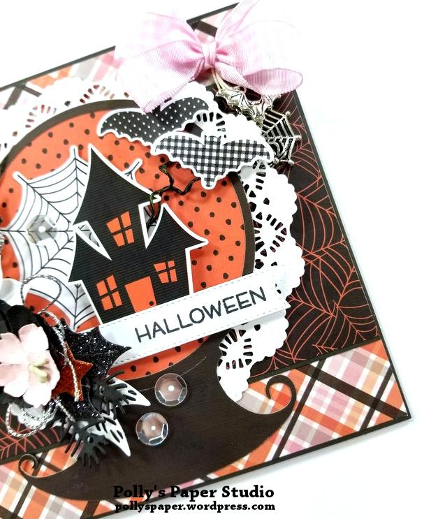Halloween Snow Globe Greeting Card Polly's Paper Studio 05