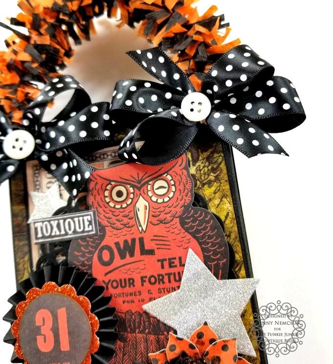 Tim Holtz Halloween Treat Bag Ephemera Abandoned Ice Resin Funkie Junkie Boutique Polly's Paper Studio 010