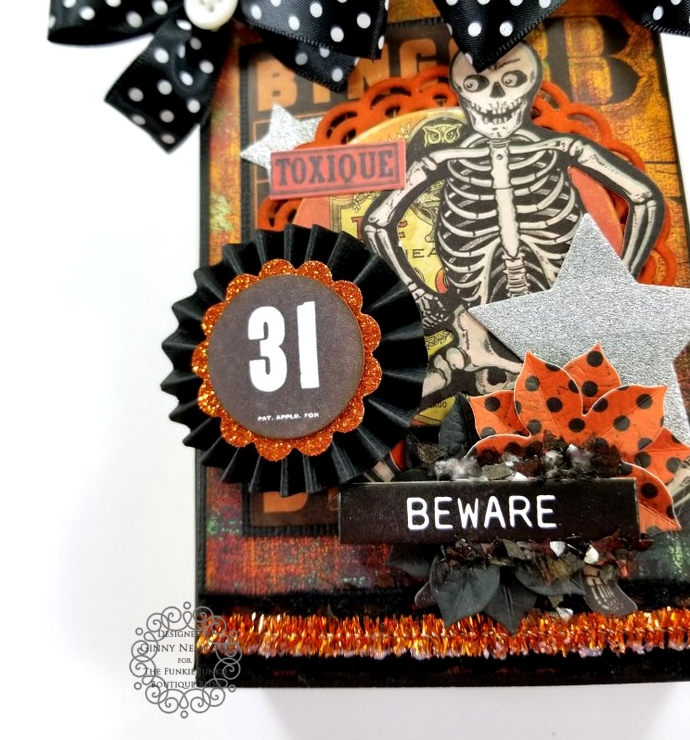 Tim Holtz Halloween Treat Bag Ephemera Abandoned Ice Resin Funkie Junkie Boutique Polly's Paper Studio 03