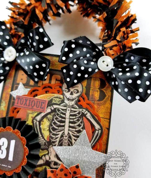 Tim Holtz Halloween Treat Bag Ephemera Abandoned Ice Resin Funkie Junkie Boutique Polly's Paper Studio 04