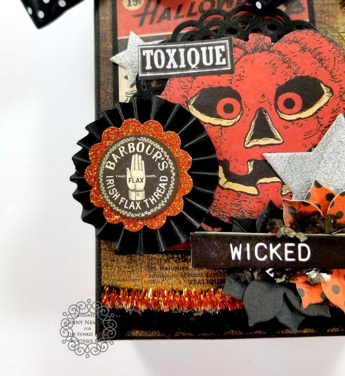 Tim Holtz Halloween Treat Bag Ephemera Abandoned Ice Resin Funkie Junkie Boutique Polly's Paper Studio 06