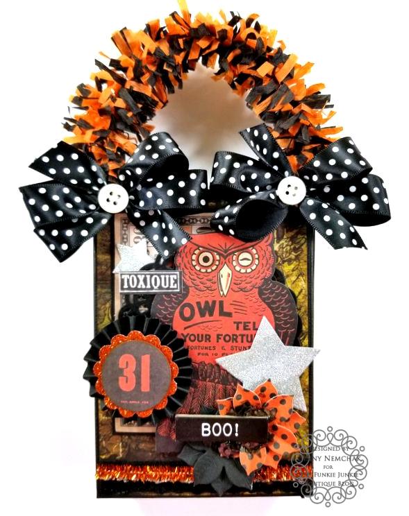 Tim Holtz Halloween Treat Bag Ephemera Abandoned Ice Resin Funkie Junkie Boutique Polly's Paper Studio 08