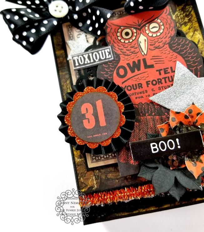 Tim Holtz Halloween Treat Bag Ephemera Abandoned Ice Resin Funkie Junkie Boutique Polly's Paper Studio 09