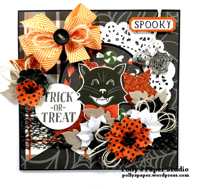 Trick or Treat Halloween Greeting Card Polly's Paper Studio 01