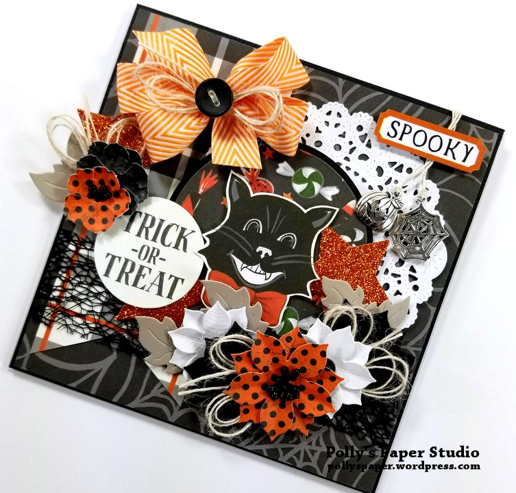 Trick or Treat Halloween Greeting Card Polly's Paper Studio 02
