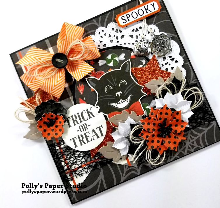 Trick or Treat Halloween Greeting Card Polly's Paper Studio 03