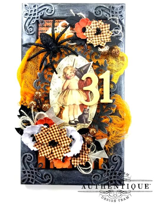 Vintage Halloween Frame Decor Polly's Paper Studio 01