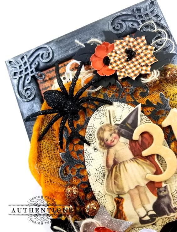 Vintage Halloween Frame Decor Polly's Paper Studio 02