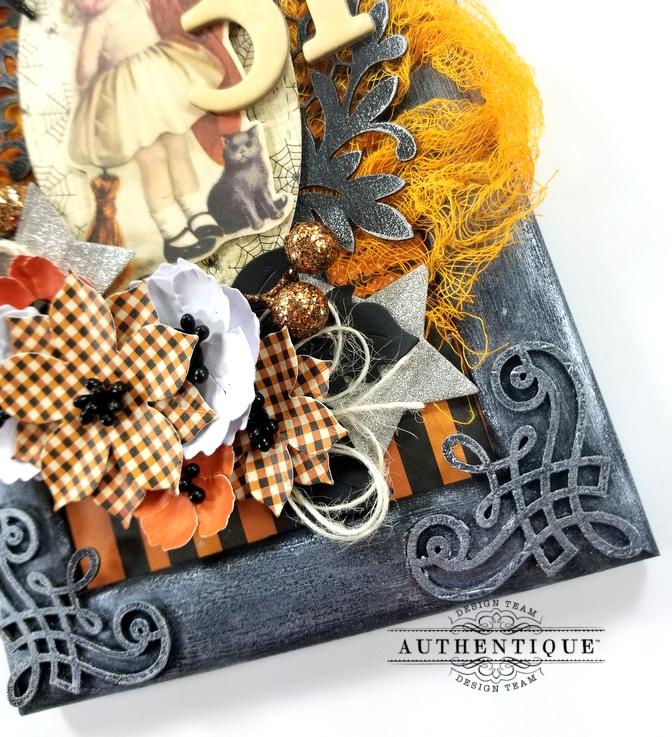 Vintage Halloween Frame Decor Polly's Paper Studio 03