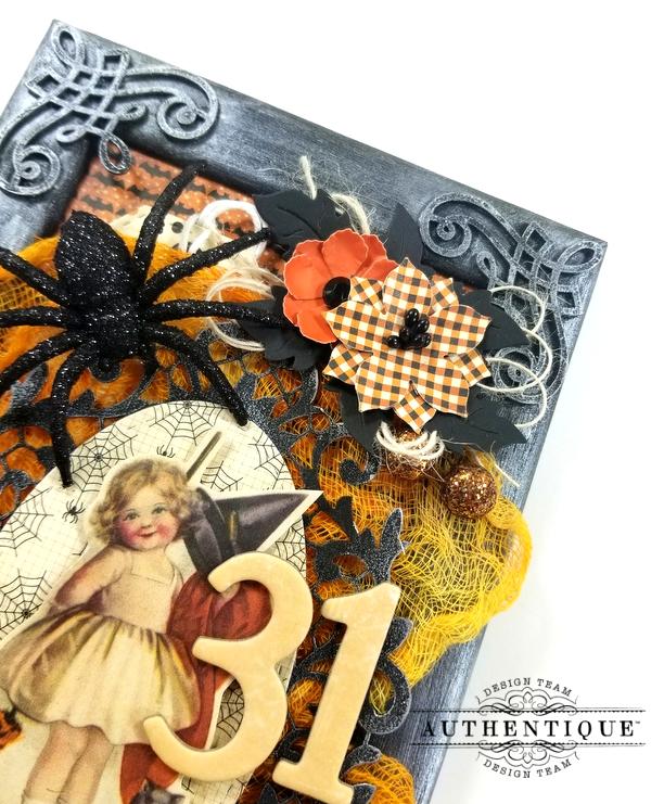 Vintage Halloween Frame Decor Polly's Paper Studio 05