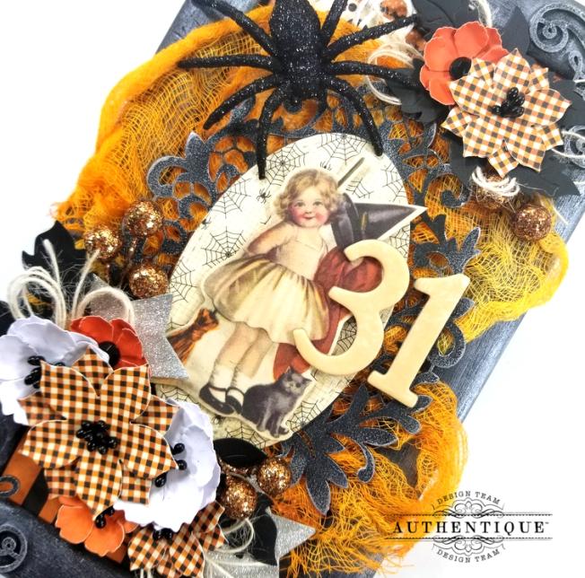 Vintage Halloween Frame Decor Polly's Paper Studio 06