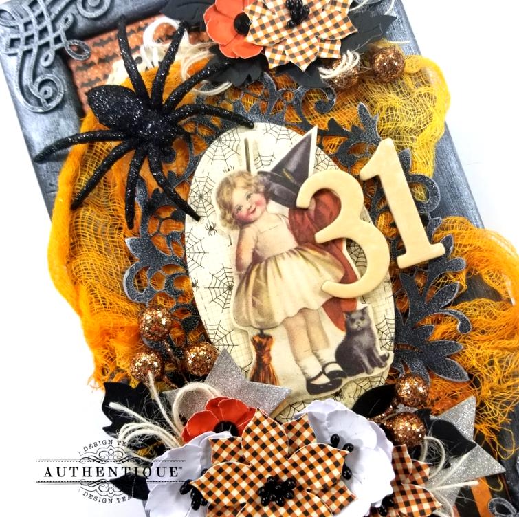 Vintage Halloween Frame Decor Polly's Paper Studio 07