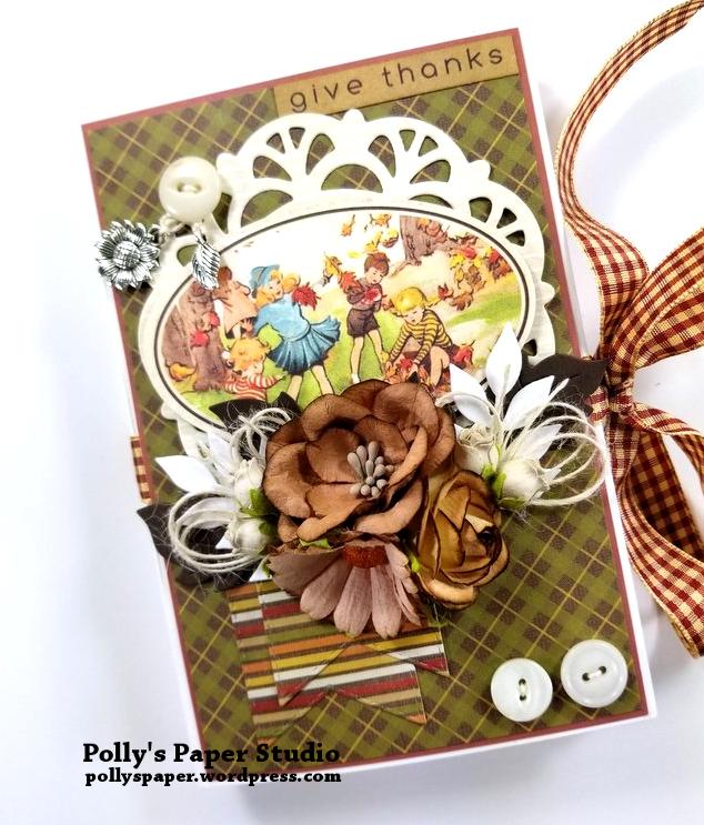 Give Thanks Mini Album Scrapbook Polly's Paper Studio 01