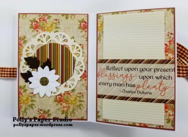 Give Thanks Mini Album Scrapbook Polly's Paper Studio 010