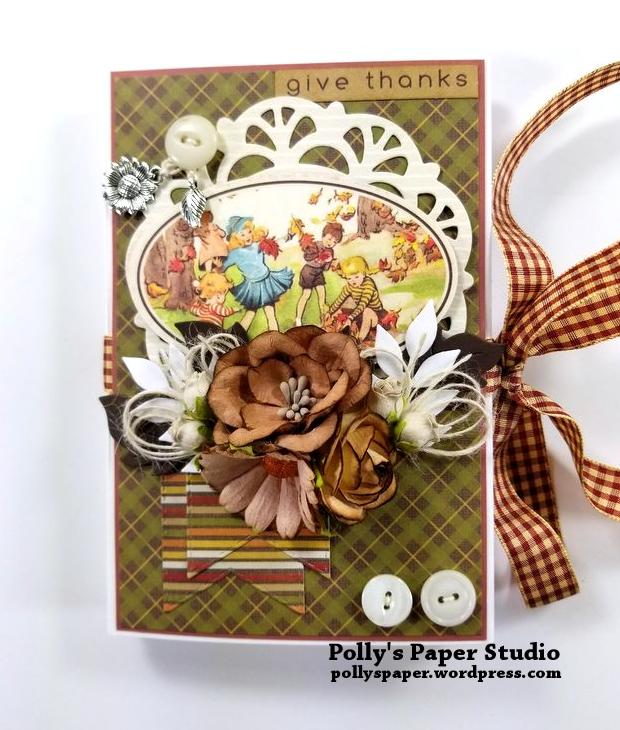 Give Thanks Mini Album Scrapbook Polly's Paper Studio 02