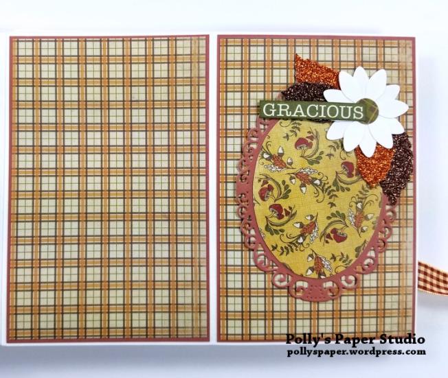 Give Thanks Mini Album Scrapbook Polly's Paper Studio 06