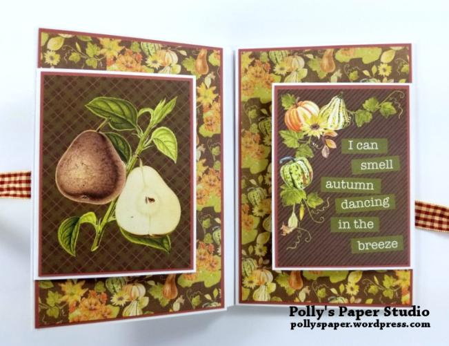 Give Thanks Mini Album Scrapbook Polly's Paper Studio 07