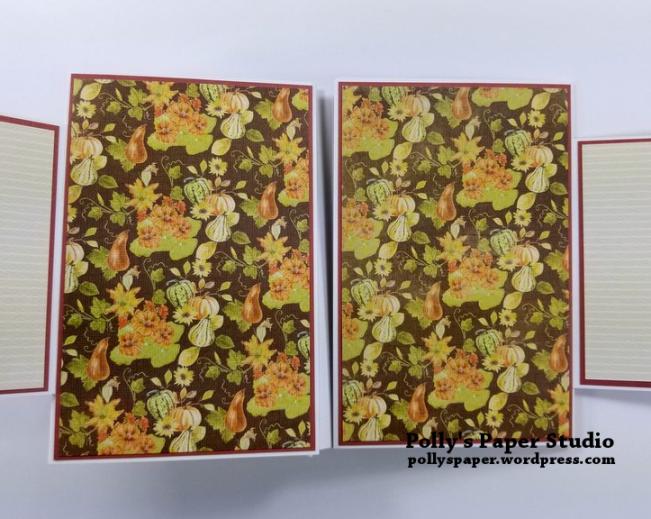 Give Thanks Mini Album Scrapbook Polly's Paper Studio 08