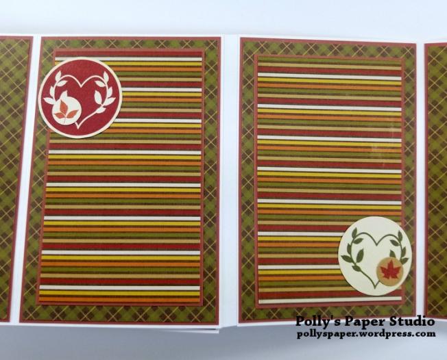 Give Thanks Mini Album Scrapbook Polly's Paper Studio 09