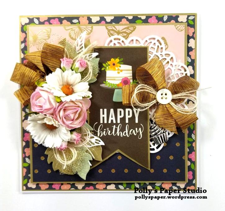 Happy Birthday Cake Greeting Card Polly's Paper Studio 01