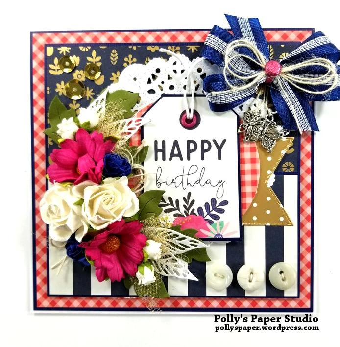 Happy Birthday Greeting Card Polly's Paper Studio 01
