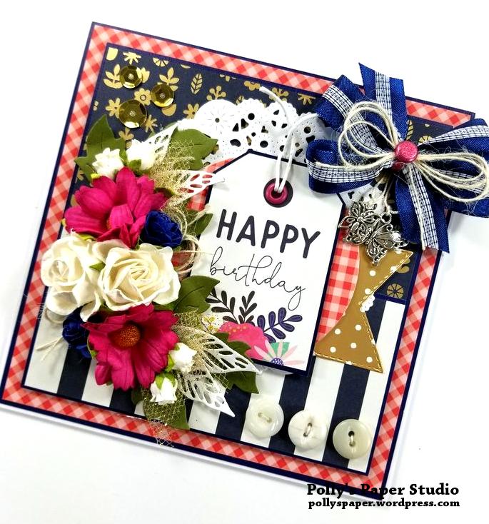 Happy Birthday Greeting Card Polly's Paper Studio 02