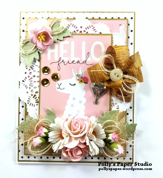 Hello Friend Greeting Card Polly's Paper Studio 01