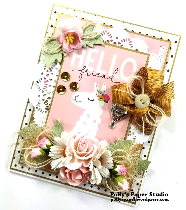 Hello Friend Greeting Card Polly's Paper Studio 02