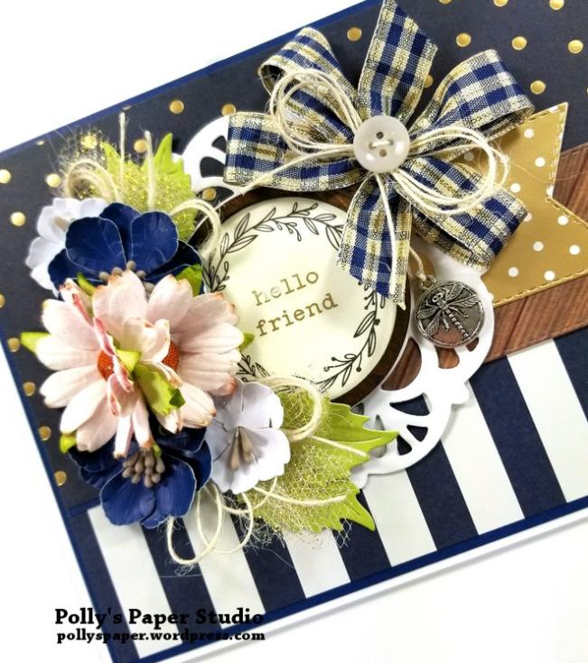 Hello Friend POlka Dot Greeting Card Polly's Paper Studio 04