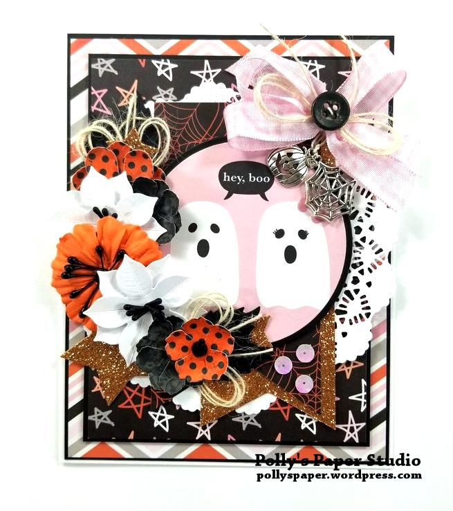 Hey Boo Halloween Greeting Card Polly's Paper Studio 01