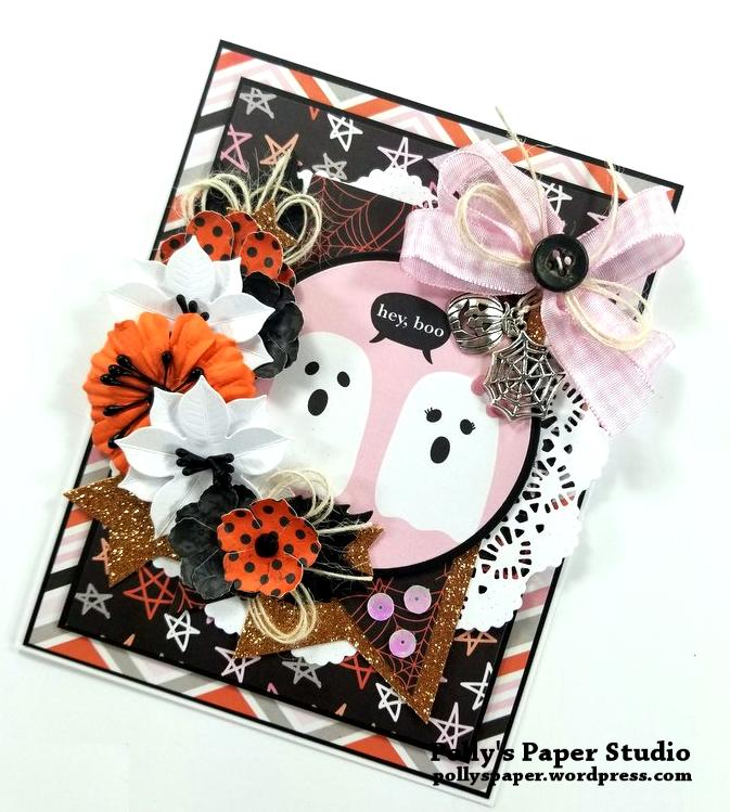 Hey Boo Halloween Greeting Card Polly's Paper Studio 02