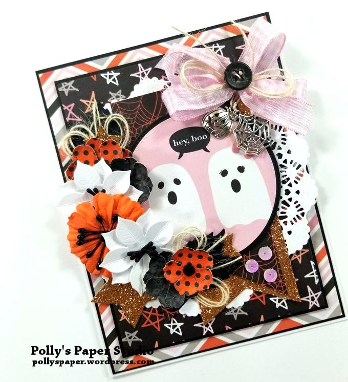 Hey Boo Halloween Greeting Card Polly's Paper Studio 03