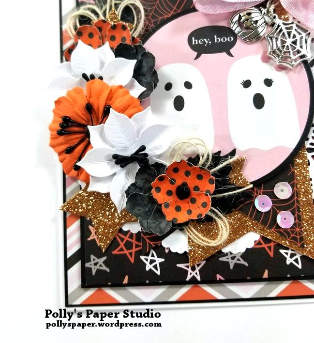 Hey Boo Halloween Greeting Card Polly's Paper Studio 04