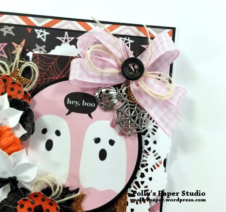 Hey Boo Halloween Greeting Card Polly's Paper Studio 05