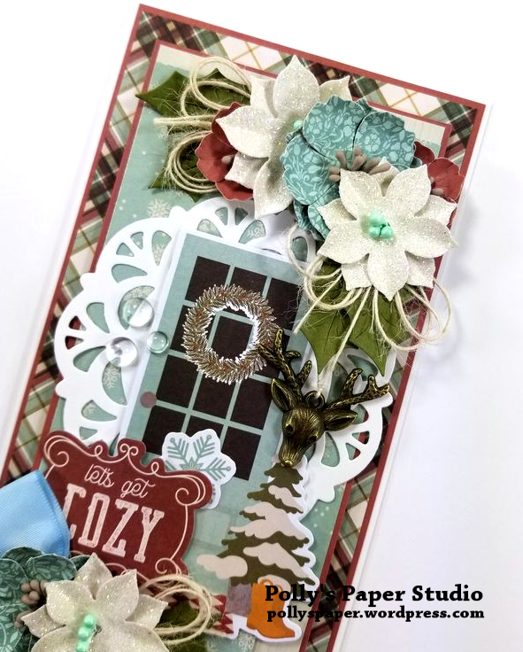 Let's Get Cozy Christmas Greeting Card Polly's Paper Studio 04