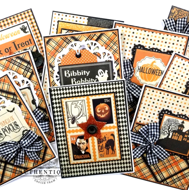 October Calendar Greeting Cards Polly's Paper Studio 01