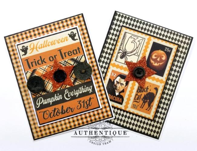 October Calendar Greeting Cards Polly's Paper Studio 04