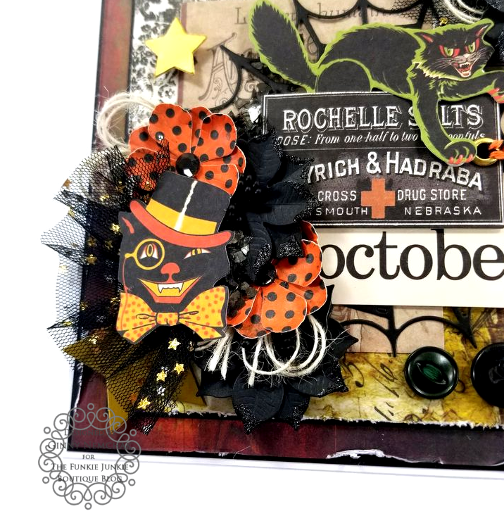 Tim Holtz Halloween Ideaology Ephemera Abandonded Paper Wall Paper Ice Resin BoBunny Glitter Paste Polly's Paper Studio 04