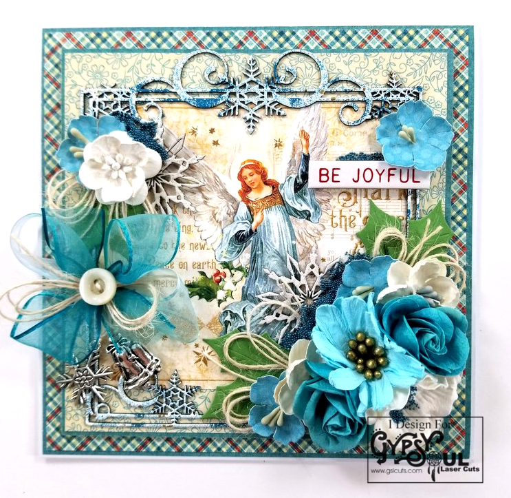 Be Joyful Christmas Greeting Card Polly's Paper Studio 01