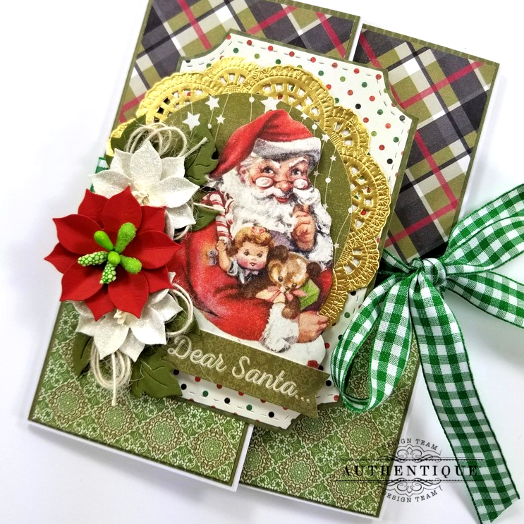 Dear Santa Gatefold Christmas Greeting Card Polly's Paper Studio 02