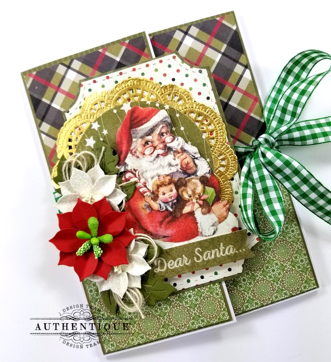 Dear Santa Gatefold Christmas Greeting Card Polly's Paper Studio 03