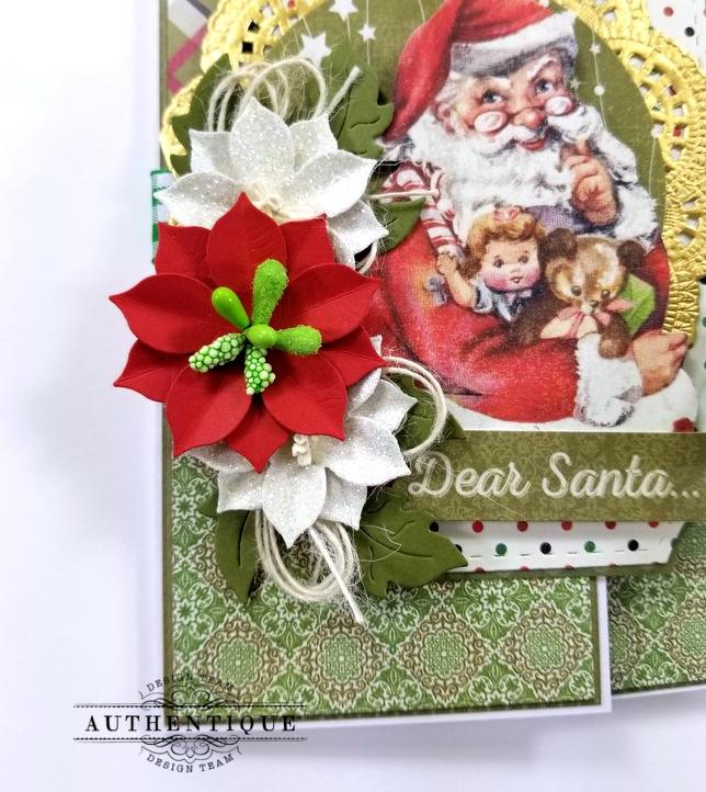 Dear Santa Gatefold Christmas Greeting Card Polly's Paper Studio 04