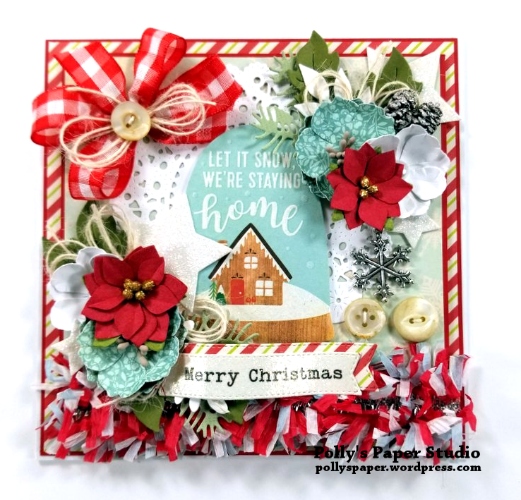 Let It Snow Christmas Greeting Card Polly's Paper Studio 01