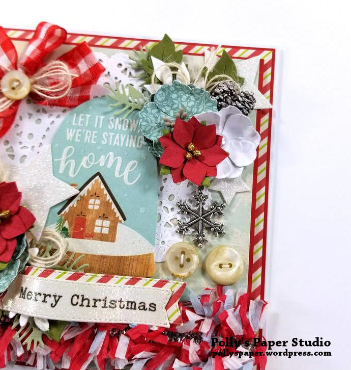 Let It Snow Christmas Greeting Card Polly's Paper Studio 05