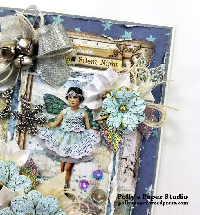 Silent Night Christmas Greeting Card Polly's Paper Studio 05