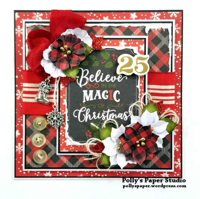 Believe in the Magic Christmas Greeting Card Polly's Paper Studio 01